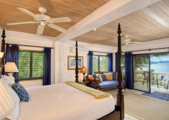 CARIBE #3 KING SUITE with daybed (Queen length), kitchenette, large private deck with beach and island views, outdoor shower, a very private paradise for two!