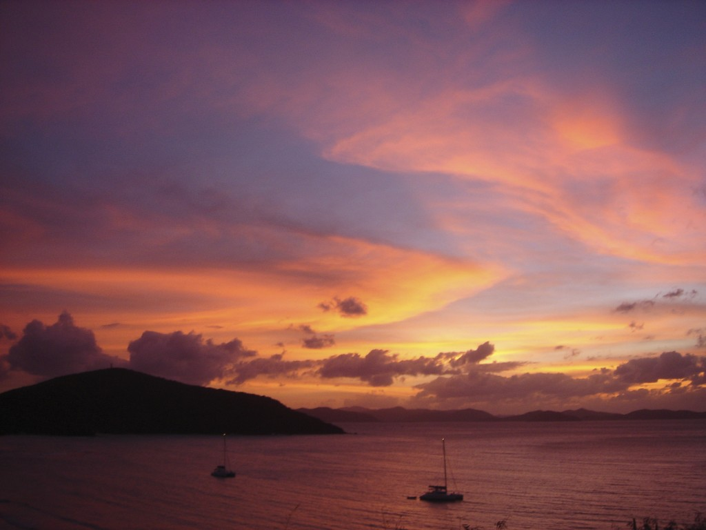 The sunsets in Virgin Gorda are gorgeous!