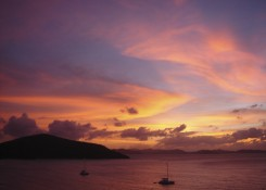 Virgin Gorda sunsets are famous for their variety and wonderful colors.