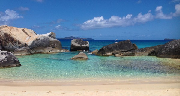 The beach at Spring Bay National Park. Enjoy snorkeling amongst the huge boulders.