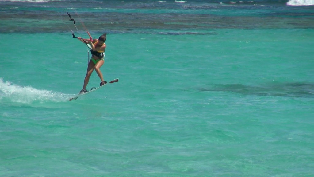 Kite boarding is a popular new water sport in the British Virgin Islands.